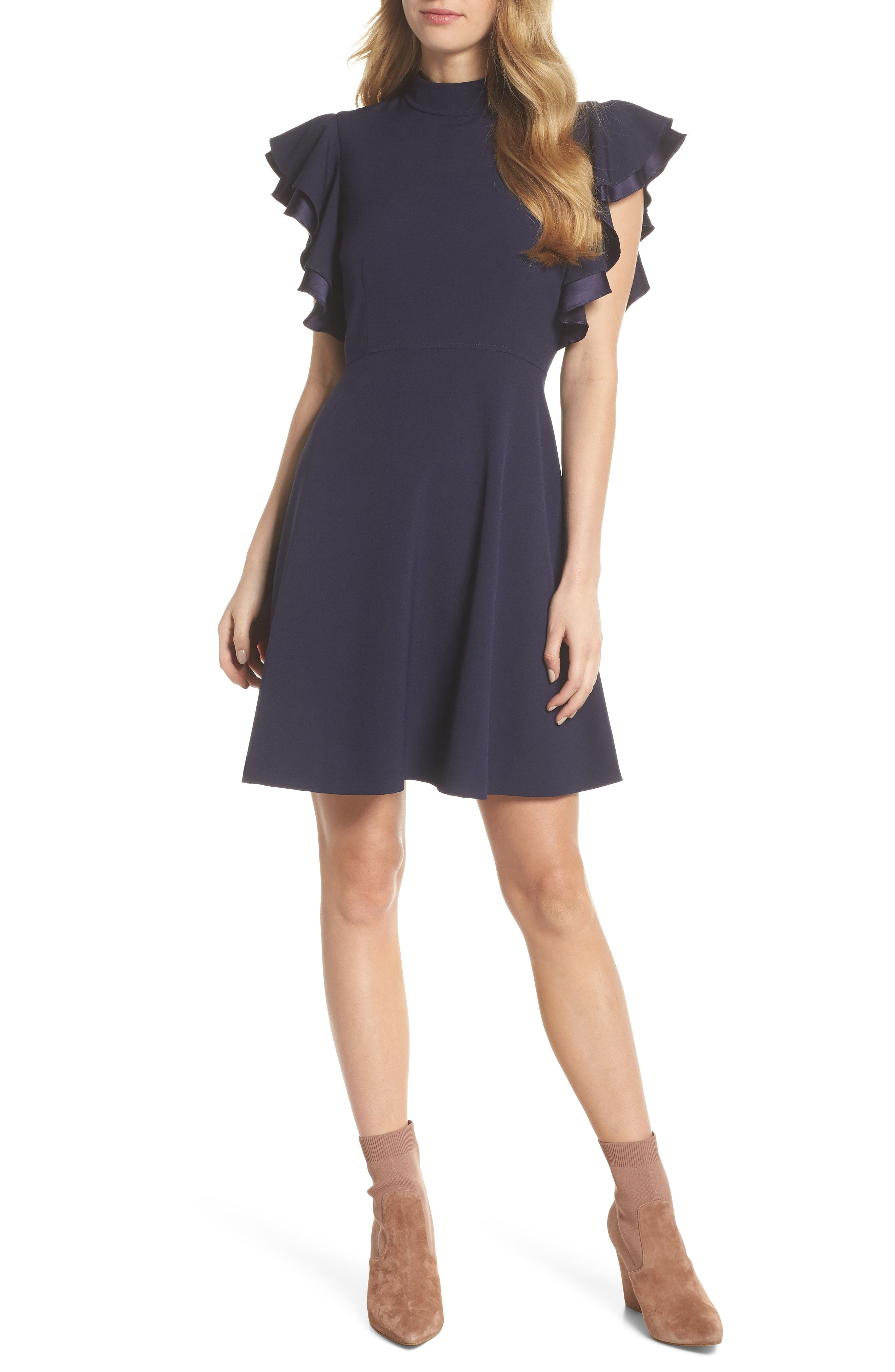 224247d9e2f6 Chelsea28 Crepe Fit & Flare Dress Green available at #Nordstrom ...