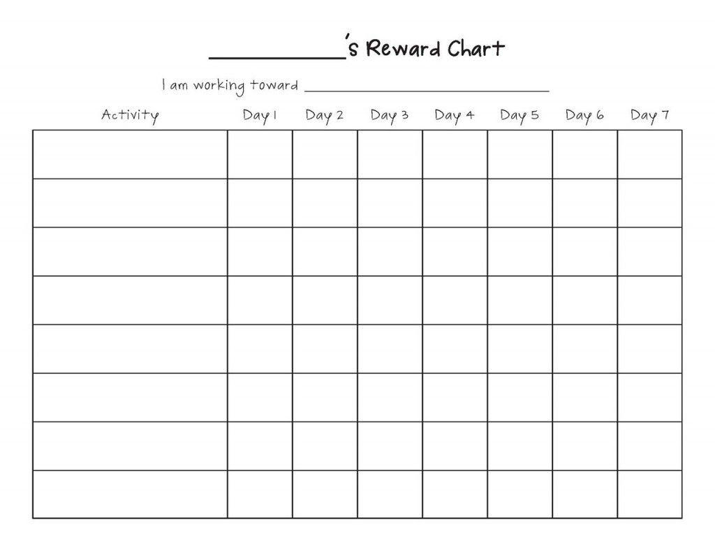 Printable Reward Chart Template Reward Chart Template Printable Reward Charts Free Printable Behavior Chart