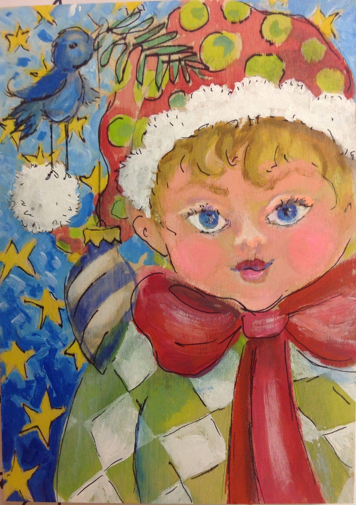 Christmas elf paintings Google Search Painting, Art