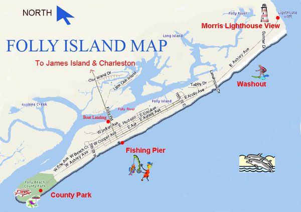 Folly Beach South Carolina Map.Folly Beach South Carolina Google Search Favorite Places