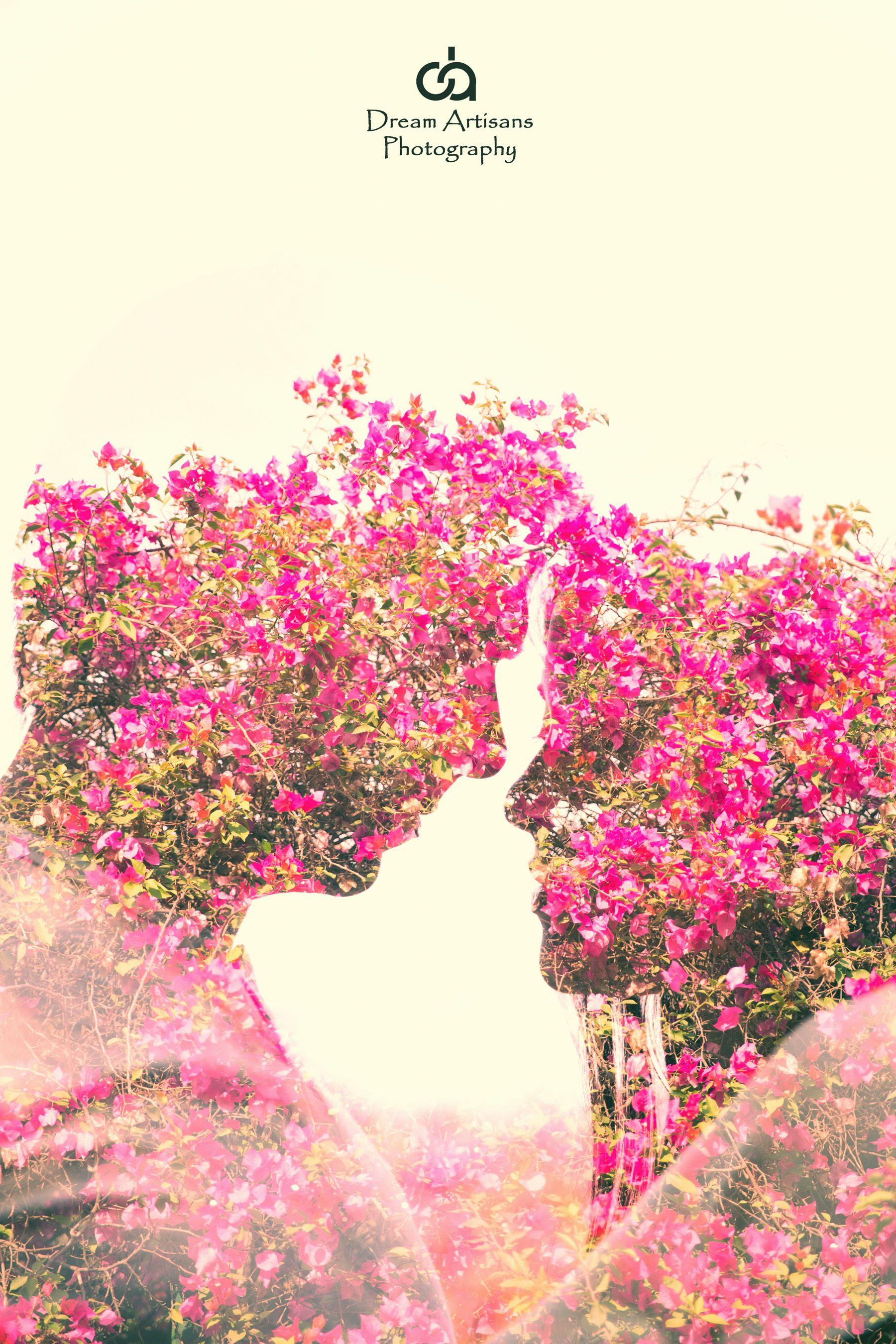 Multiple exposure. couple portrait. couple photography. spring. love. Dream Artisans Photography