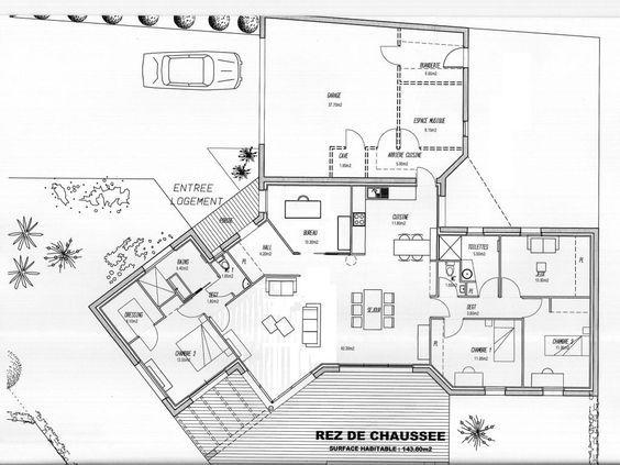 Pour les musiciens maison Pinterest Plan design, Construction - plan de maison de 100m2 plein pied