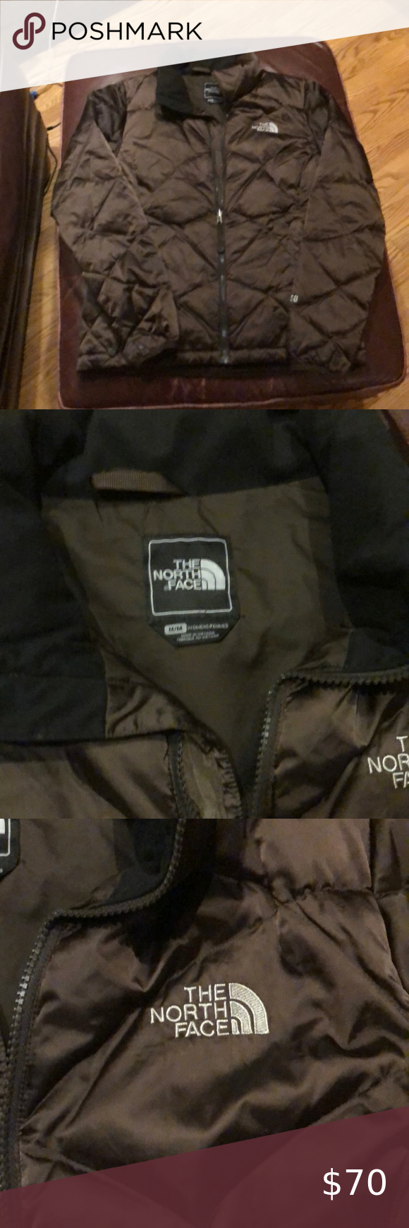 Brown Northface Puffer Jacket Medium Womans Tnf The North Face Jackets Coats Puffers North Face Puffer Jacket The North Face North Face Jacket [ 1740 x 580 Pixel ]