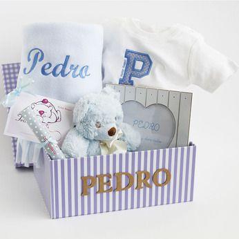 Caja Bordado Especial Cesta Personalizada Para Bebé Canastilla Personalizada Para Regalos Para Bebé Regalos Para Bebés Recién Nacidos Regalos Para Bebé Varón