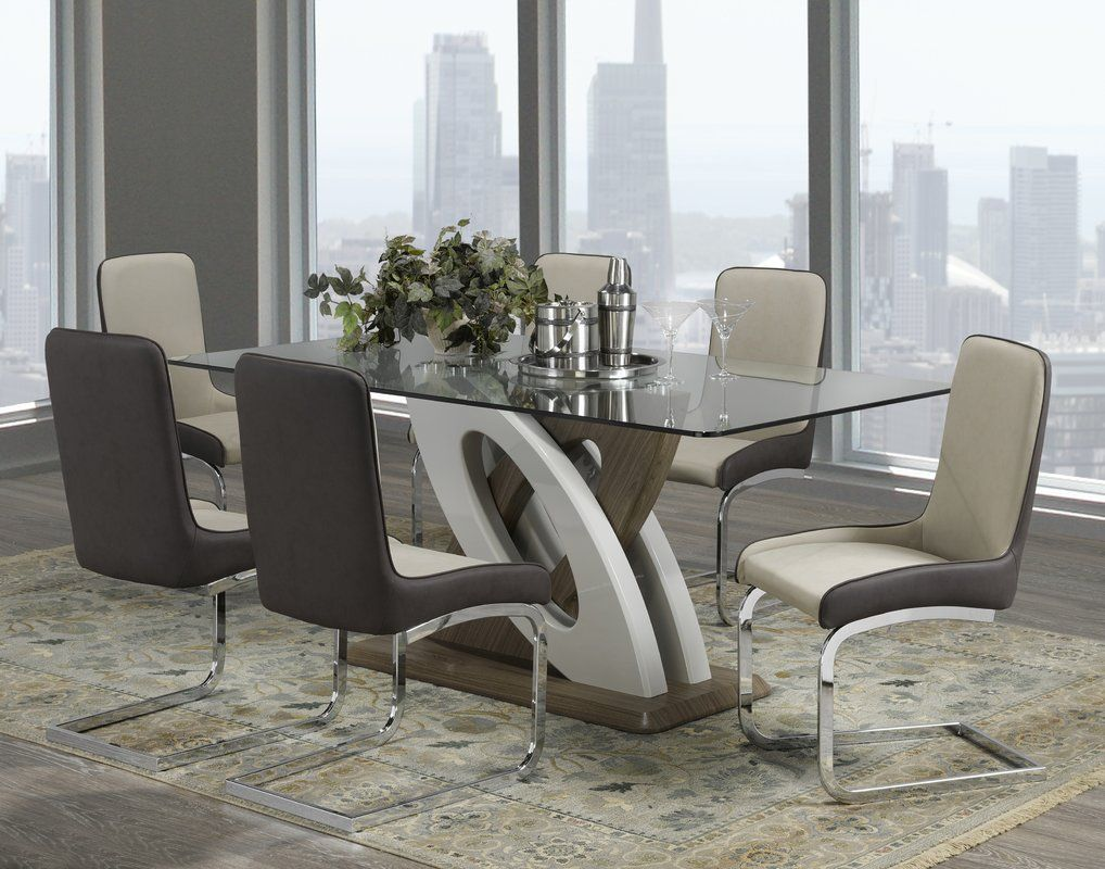 Bovey 7 Piece Dining Set 1 500 Dining Room Sets 7 Piece Dining
