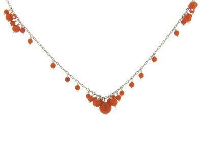 Ten Thousand Things - Spaced Coral Bead Chain - Sterling Silver