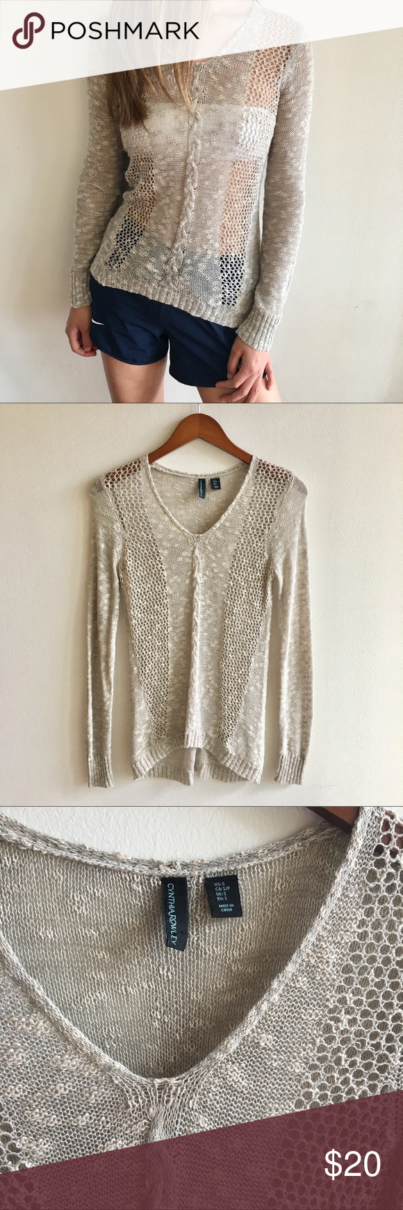 cynthia rowley]crochet v-neck lightweight sweater | D, Freeze and ...