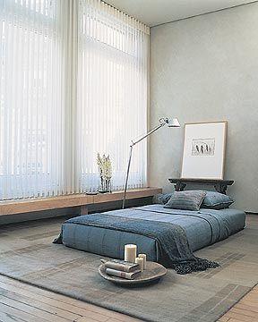 Quarto com cama estilo japonês