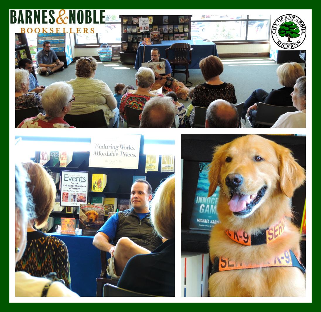 "Tuesday & I had a terrific time at Barnes & Noble - Ann Arbor presenting ""Tuesday Tucks Me In."" — in Ann Arbor, MI."