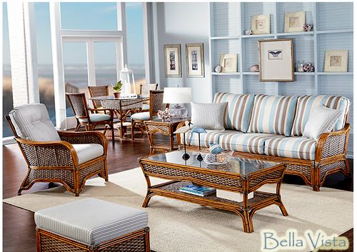 Bella Vista Rattan And Wicker Living Room Set And Individual Pieces | Beachcraft  Furniture Living Room