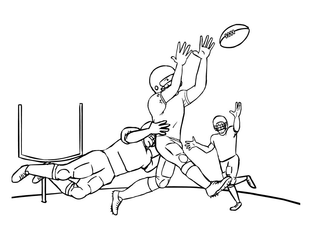 Nfl Football Games Coloring Page For Kids With Images