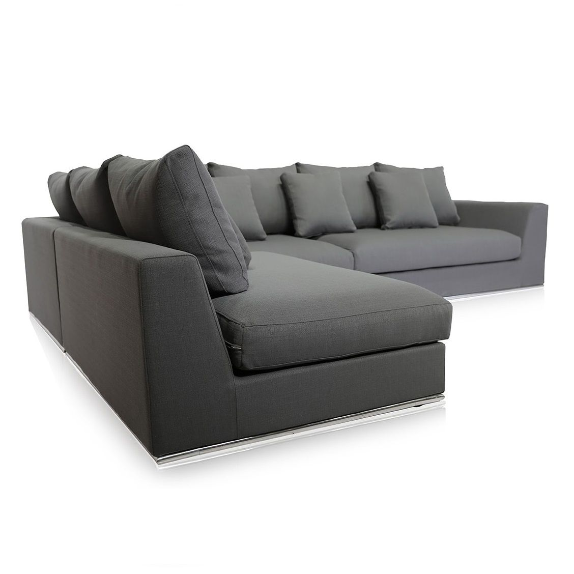 Giovani Fabric Contemporary Sofa Gray Modular Couch Furniture