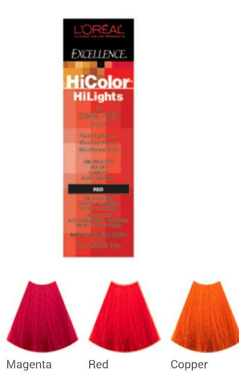 Hicolor Chart Cabello Rojo Cobrizo Cabello Rojo Mechas Rojas