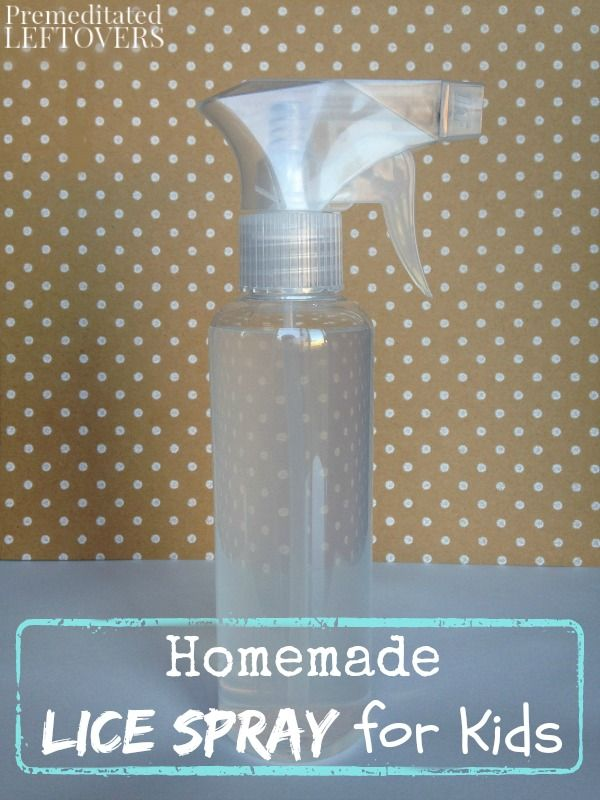 Homemade Lice Spray For Kids Premeditated Leftovers