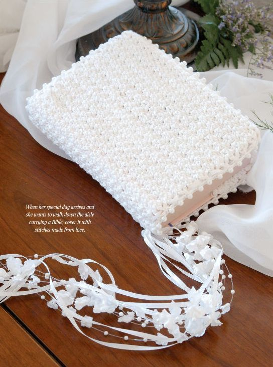 W035 Crochet Pattern Only Brides Bible Cover Pattern Wedding