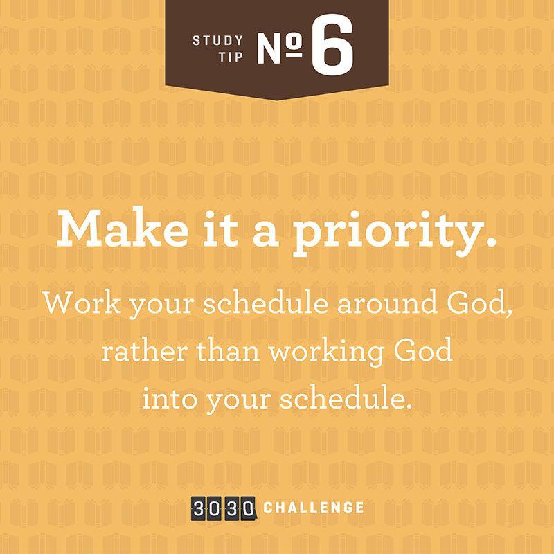 Tip #6: Make it a priority  @joycemeyermin #3030challenge   Bible