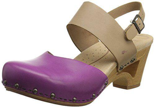 Dansko Women's Thea Dress Sandal, Orchid/Sand Full Grain, 38 EU/7.5