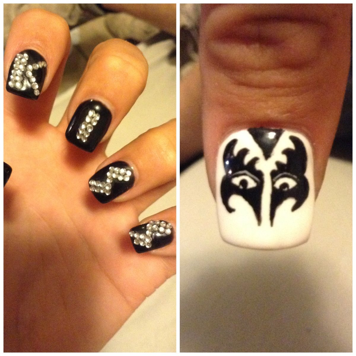 KISS nail art !!! Kiss army !!! | Nails | Pinterest | Kiss nails and ...