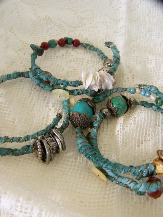 Braccialetto turchese Bracciale Stack Gypsy Vintage Boho