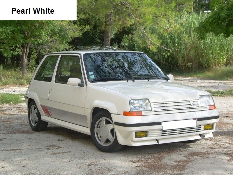 Renault 5 Gt Turbo Phase 2 Pearl White Renault 5 Gt Turbo Renault 5 Renault