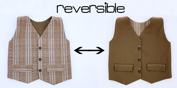reversible boys vest tutorial