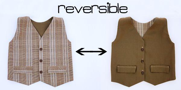 reversible boys vest tutorial
