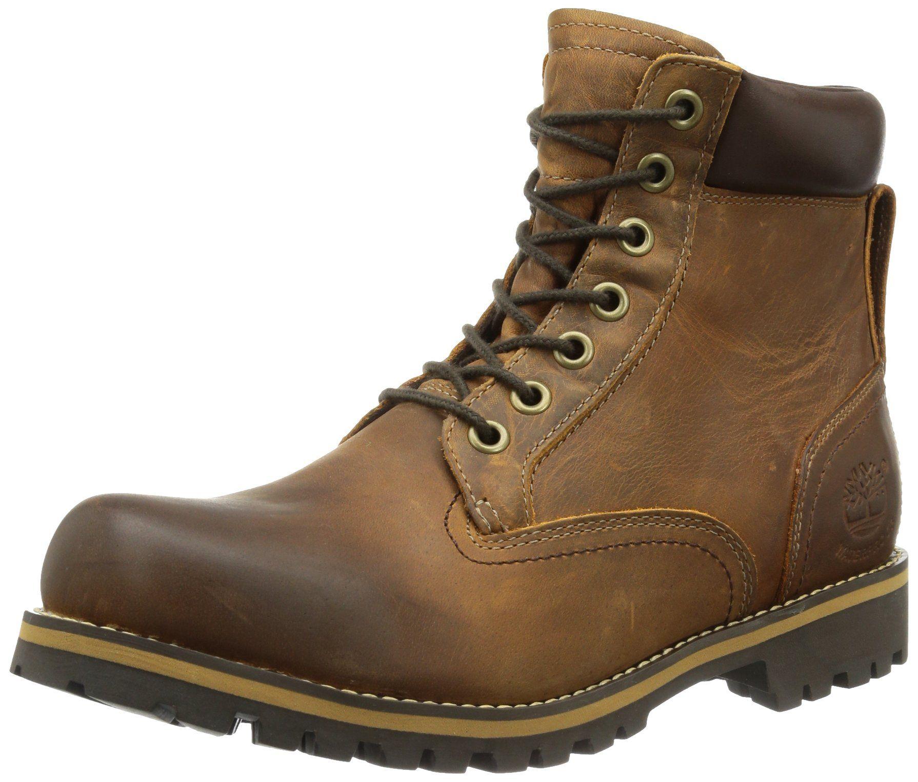 Timberland Earthkeepers Rugged Waterproof 6in Plain Toe Boot Men's