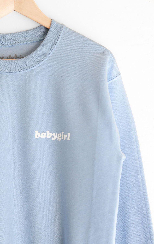 Description Size Guide Details Oversized Crewneck Sweatshirt In Light Blue With Print Featuring Babyg Sweatshirts Oversized Sweatshirt Oversized Crewneck [ 1500 x 950 Pixel ]