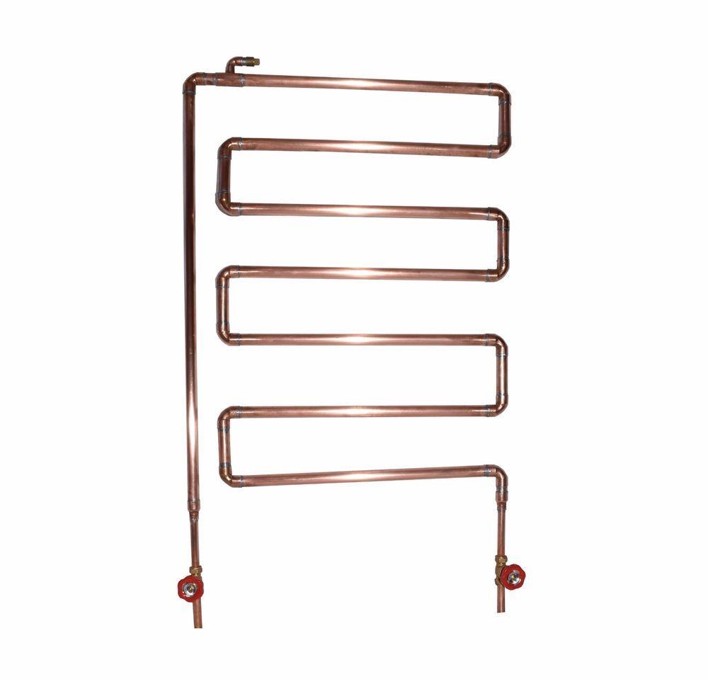 Small heated towel rails for bathrooms - Handmade Copper Radiator Towel Radiator Industrial Antique Vintage