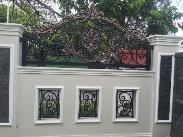 Pagar Besi Tempa Gate Wall Design House Fence Design Front