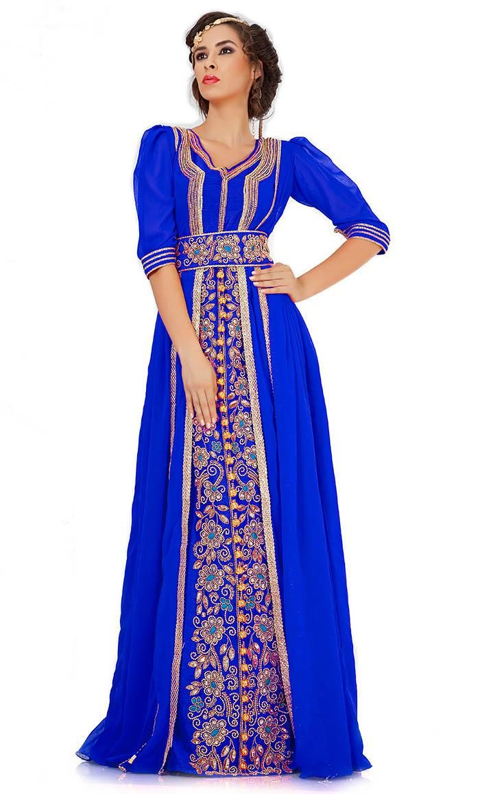 Kilam kilam attractive dark blue jacket style moroccan wedding
