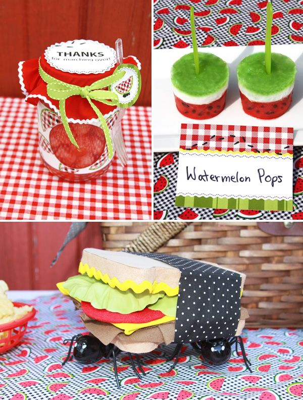 Am liking the idea of watermelon pops (to use the watermelon from the centre piece that I posted into my crafts page).