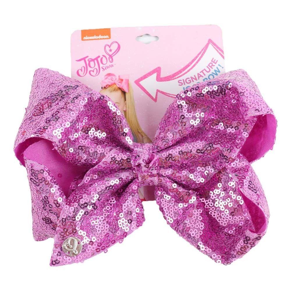 8 inch JOJO SIWA Large Girls Kids Sequin Bow Rainbow Bowknot Hair Clips Unicorn