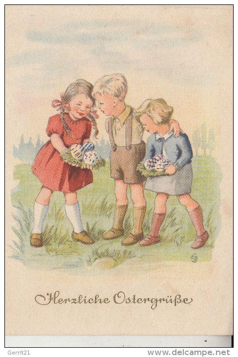 KINDER - Künstler-Karte Erhard Neubert, Ostern
