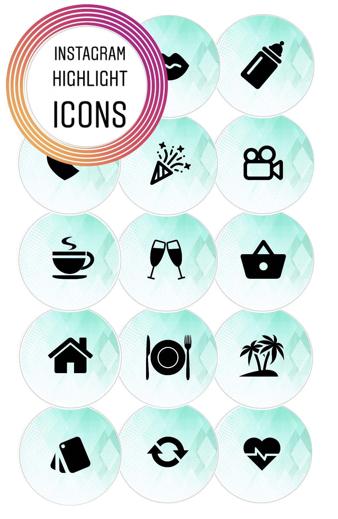 Pin by Waudle on Instagram Story Highlight Icon Cover