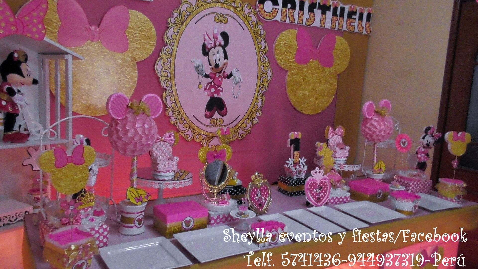 Minnie Gold N Minnie Dorada Decoración En 2019 Decoración