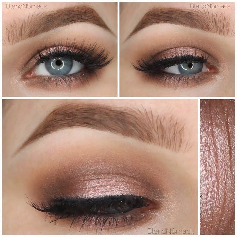 Wedding Makeup Ideas For Blue Eyes: This Look Is A Sweet And Sexy Nude Eyeshadow Combination