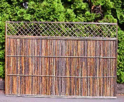 die besten 25 willow fence panels ideen auf pinterest. Black Bedroom Furniture Sets. Home Design Ideas