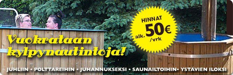 Meiltä löydät useita erilaisia tynnyreitä. Toimimme ympäri Suomea.