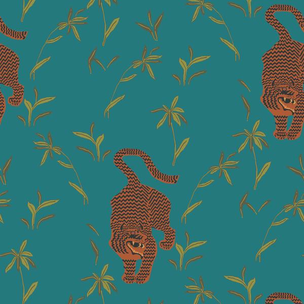 Stalking Tiger Jewel Nomad Collection Prepasted