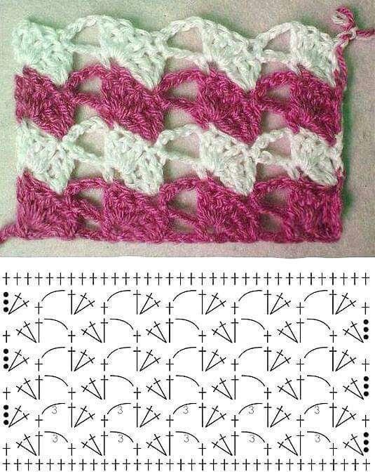 Puntada crochet | pilar | Pinterest | Puntadas, Pilares y Monederos