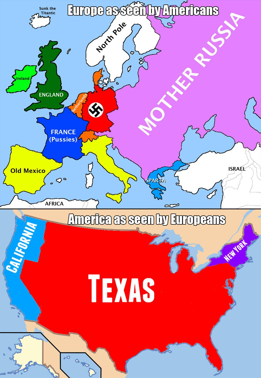 I saw this and all I could think of was America staring at all the other nations and them staring back omg XD