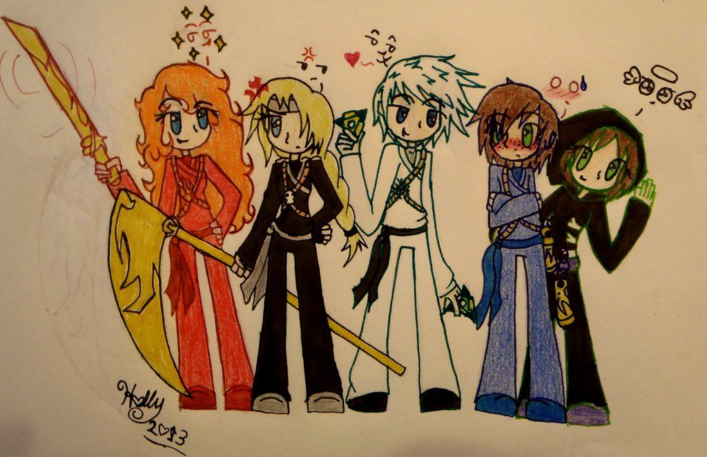 The Big Four: Merida, Astrid, Jack, Hiccup, and rapunzle  by strawberrybunny4341
