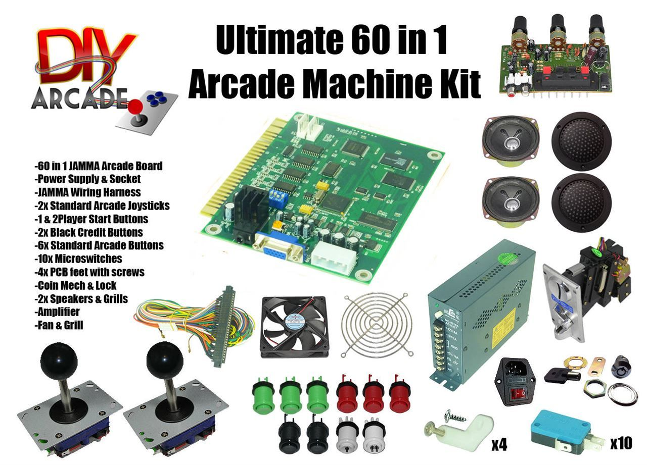 Ultimate 60 In 1 Diy Arcade Kit Red Green Pinterest Icade Jamma Wiring Harness Comes With Nearly Everything You Need To Build Your Own Machine Just Add Cabinet And Screen For The A Old Computer Monitor Is