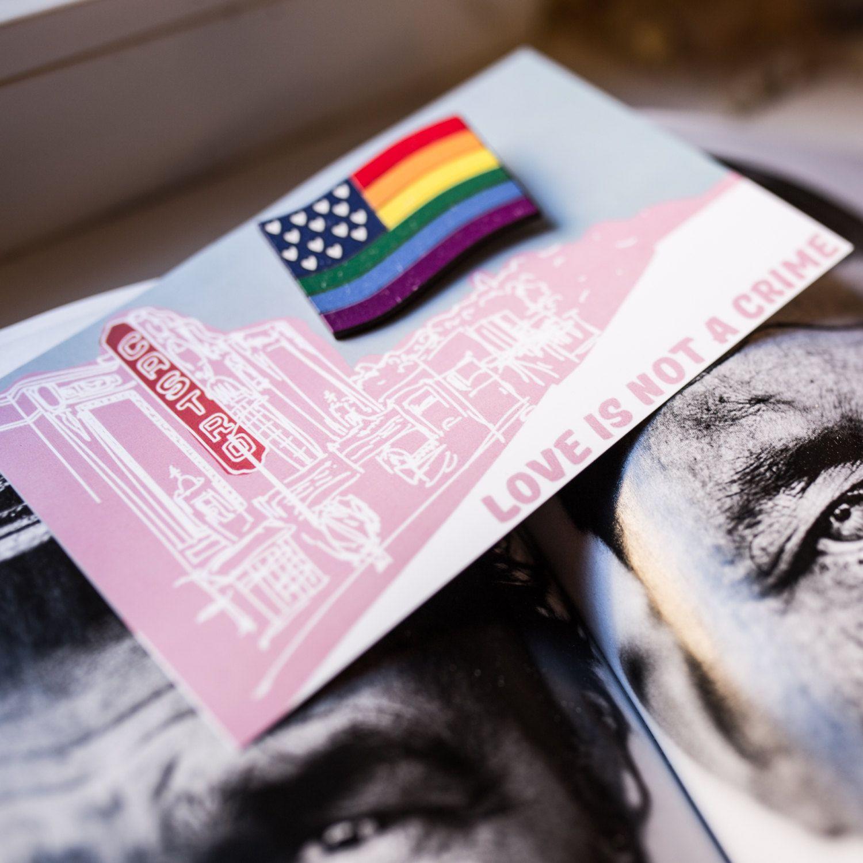 Pride wooden brooch, LGBT pride rainbow badge, Pride rainbow pin, LGBT rainbow flag, LGBT rainbow brooch, Castro neighborhood, Wooden brooch by LikeShop2U on Etsy