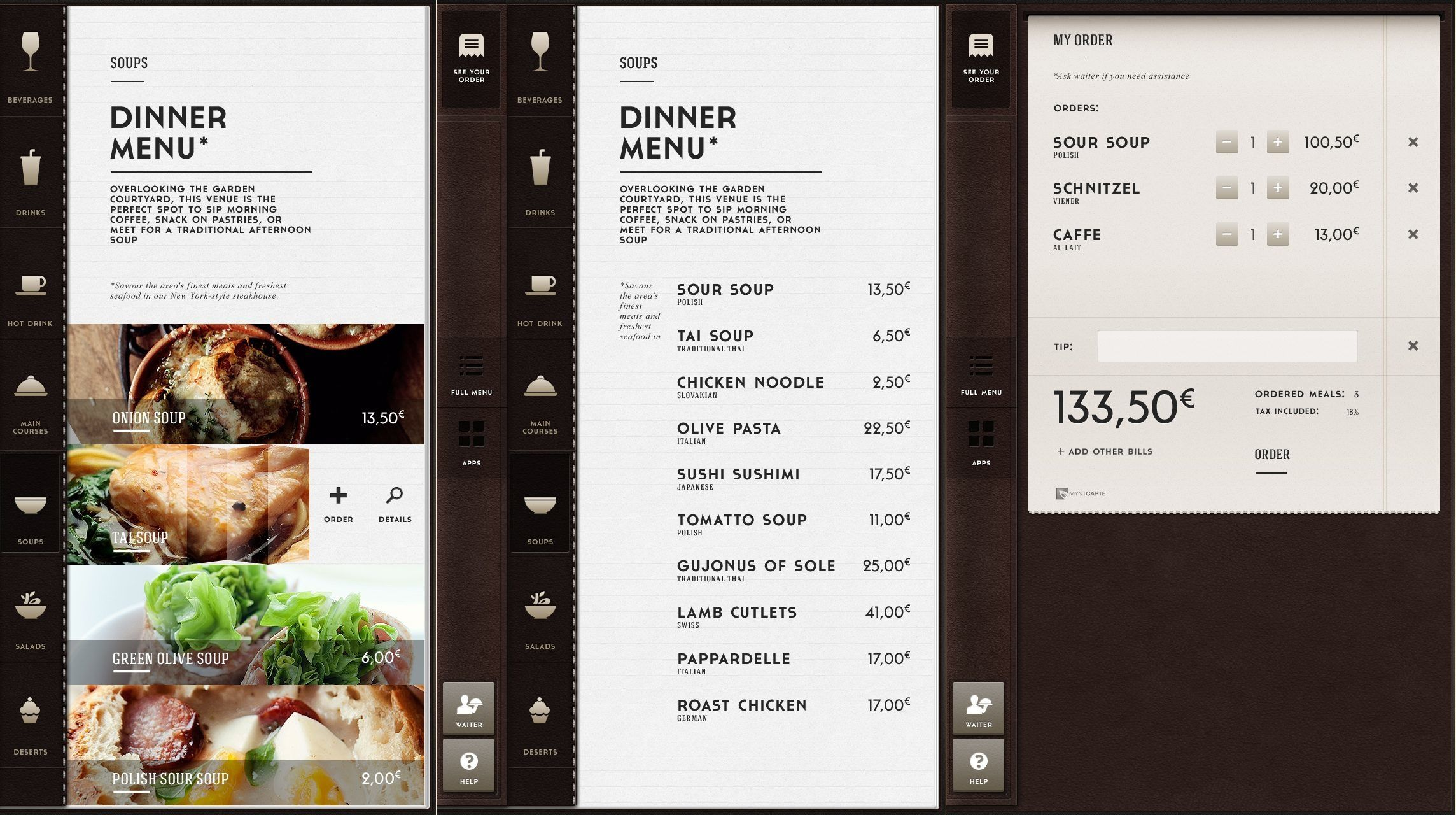 Restaurant Menu Design Ideas menu design for kirkos bar resto surabaya east java indonesia by Ranger Snapshot Restaurant App By Peter Kazmierczak Menu Designapp
