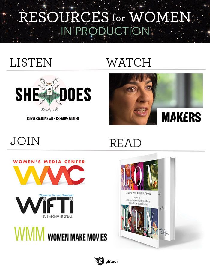 Resources for Women who are getting into Media Production.
