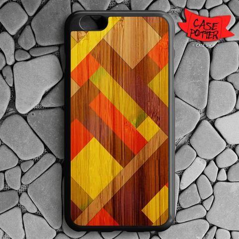 Mondrian Fullcolour Wood iPhone 6 Plus iPhone 6S Plus Black Case