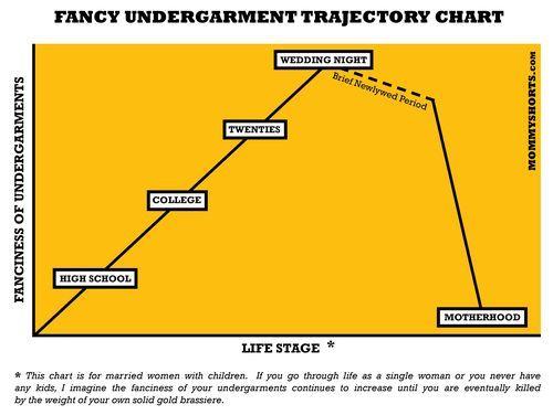 The Fancy Undergarment Trajectory Chart Motherhood humor - ballistics chart