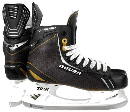 Bauer Vapor One.6 Youth Hockey Skates by Bauer. $69.99. The Bauer Supreme One.6 Ice Skates begin where the Supreme One60s left off. Great for beginner to intermediate level of players, this is a high quality skate at a great price. The 3D Trueform Tech Nylon quarter package makes the One.6 very sturdy on the outside, while heat moldable Anaform Fit Ankle Pads ensure your feet remain properly positioned and comfortable on the inside. Youll also appreciate a hydrophobic mi...